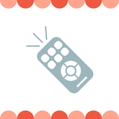infrared: TV Remote vector icon Illustration