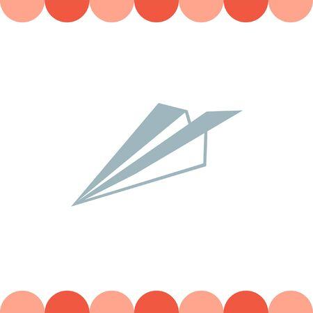 plane vector: Paper Plane vector icon Illustration