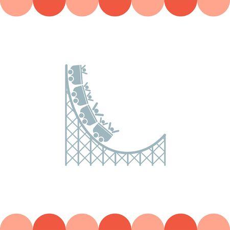 coaster: Roller Coaster vector icon
