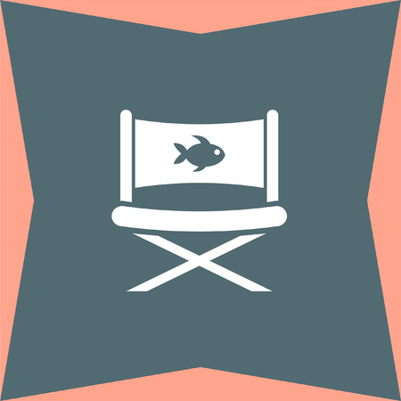 outdoor furniture: Fishing Chair vector icon