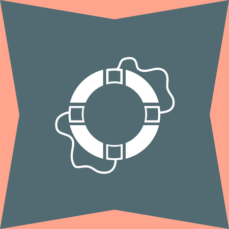 life support: Lifebuoy vector icon Illustration