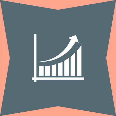increase diagram: Chart with Arrow vector icon