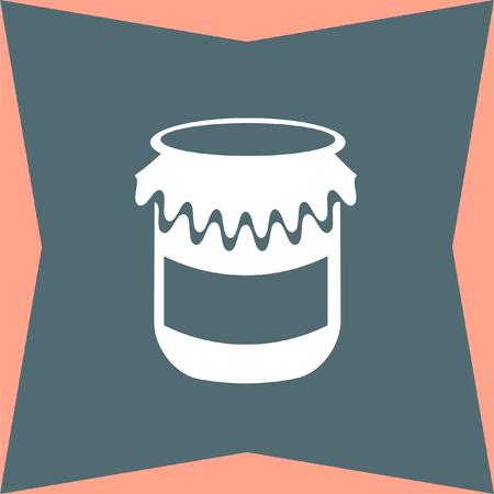 jam jar: Jam Jar vector icon