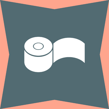wiping: Toilet Paper vector icon Illustration