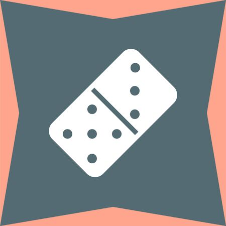 dominoes: Dominoes vector icon