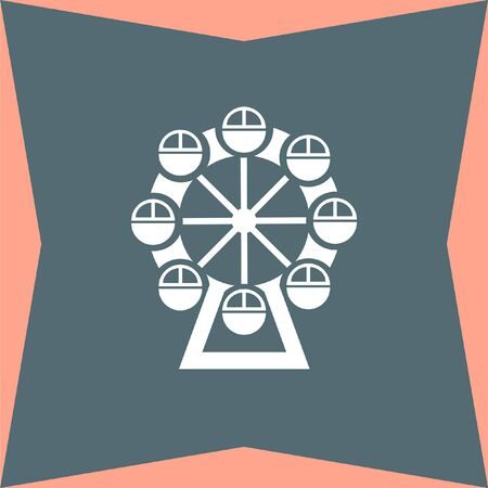 enjoyment: Ferris Wheel vector icon