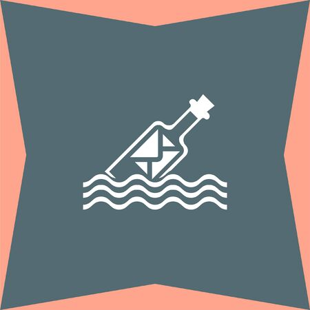 message in a bottle: Message in a Bottle vector icon Illustration