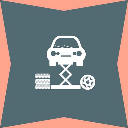 vehicle icon: Car Service vector icon