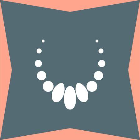 peal: Necklace vector icon