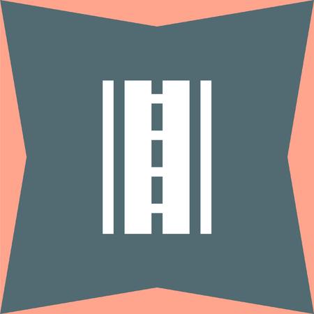 avenue: Road vector icon