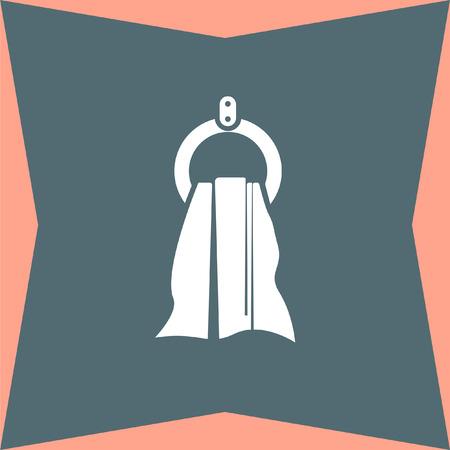 wipe: Towel vector icon Illustration