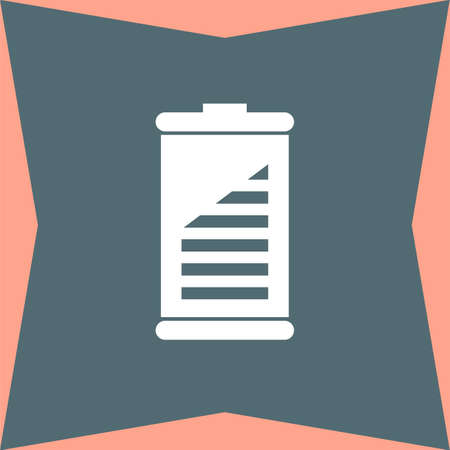 fuel and power generation: Battery vector icon