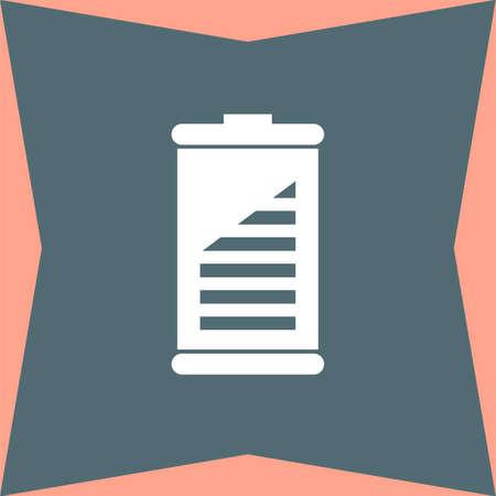 alkaline: Battery vector icon