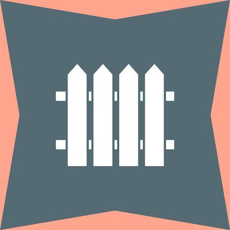 garden wall: Garden Fence vector icon