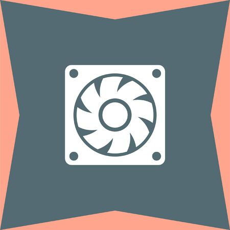 cooling: Computer Cooling Fan vector icon Illustration
