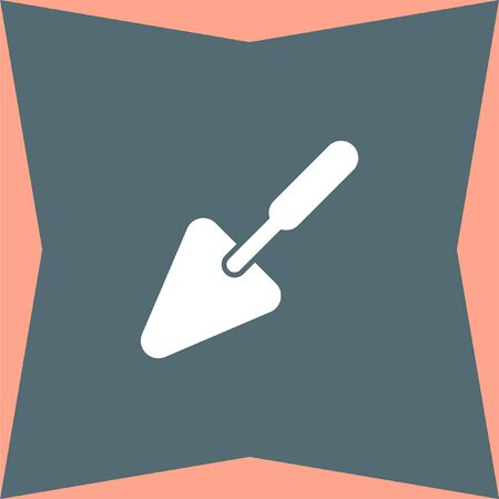 plasterer: Trowel vector icon