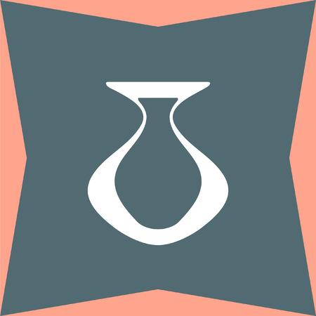 greek pottery: Vase vector icon