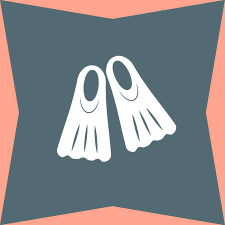fins: Swimming Fins vector icon