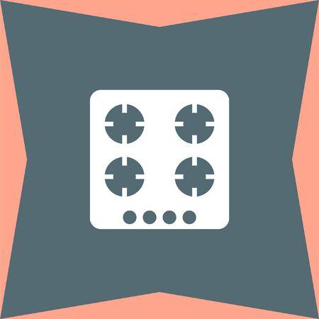 gas stove: Gas Stove vector icon Illustration