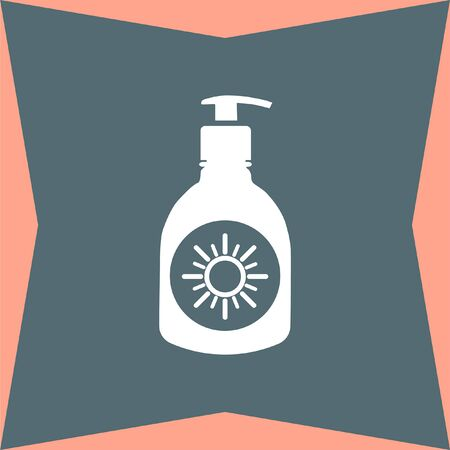 sun lotion: Sun Lotion vector icon Illustration