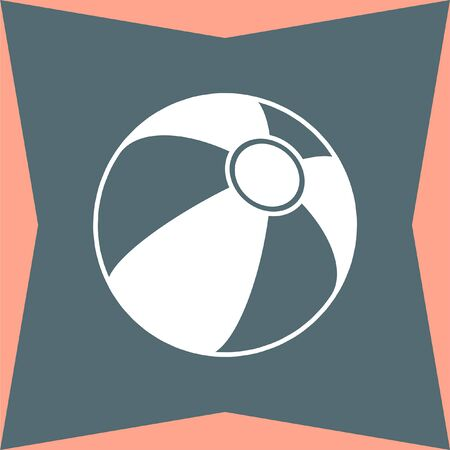beachball: Beach Ball vector icon