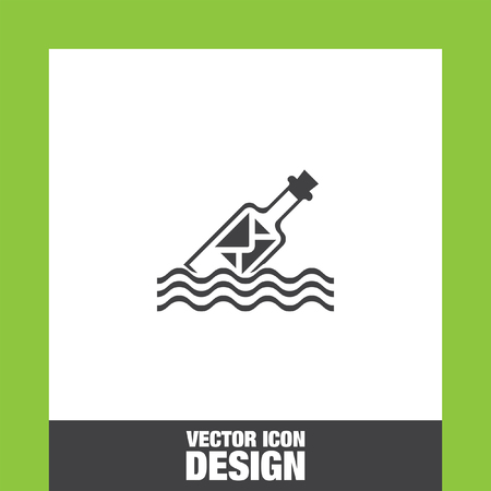 message in a bottle: Message in a bottle icon vector, Message in a bottle icon eps10, Message in a bottle icon picture, Message in a bottle icon flat, Message in a bottle icon, Message in a bottle web icon, Illustration