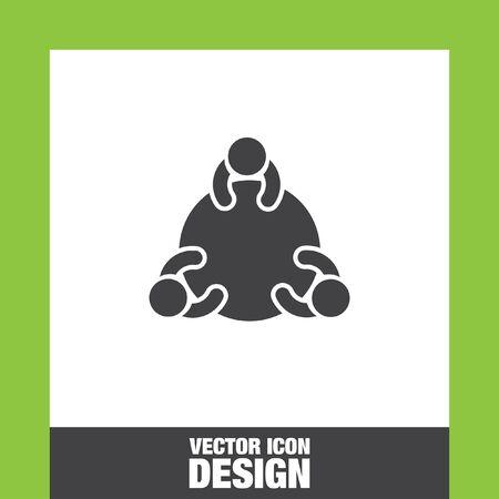 Groupe de discussion icône vecteur, groupe de discussion icône eps10, groupe de discussion icône image, Discussion icône de groupe plat, icône de groupe de discussion, icône web du groupe de discussion, Vecteurs