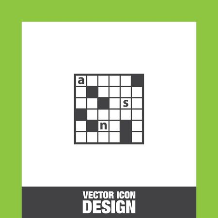crossword: Crossword puzzle icon vector, Crossword puzzle icon eps10, Crossword puzzle icon picture, Crossword puzzle icon flat, Crossword puzzle icon, Crossword puzzle web icon, Illustration