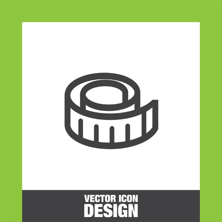 metric: Measure tape icon vector, Measure tape icon eps10, Measure tape icon picture, Measure tape icon flat, Measure tape icon, Measure tape web icon, Illustration
