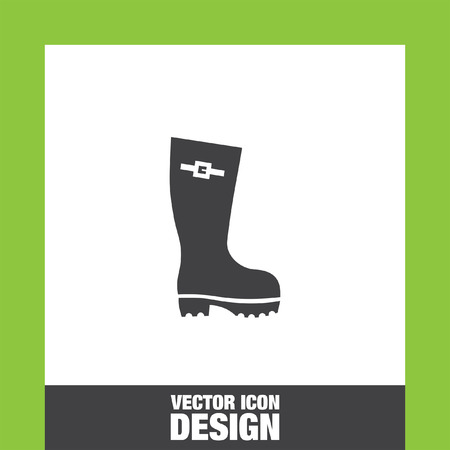 gumboots: Rain boot icon vector, Rain boot icon eps10, Rain boot icon picture, Rain boot icon flat, Rain boot icon, Rain boot web icon,