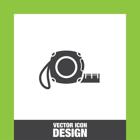 cintas metricas: Cinta de la medida del icono del vector, medir el icono de la cinta Cinta de la medida icono imagen, icono de medir cinta plana, medir el icono de la cinta, medir el icono de la web cinta,