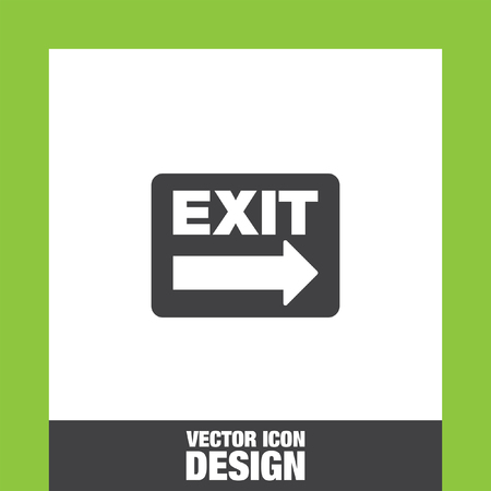 exit sign: Exit sign icon vector, Exit sign icon eps10, Exit sign icon picture, Exit sign icon flat, Exit sign icon, Exit sign web icon, Illustration