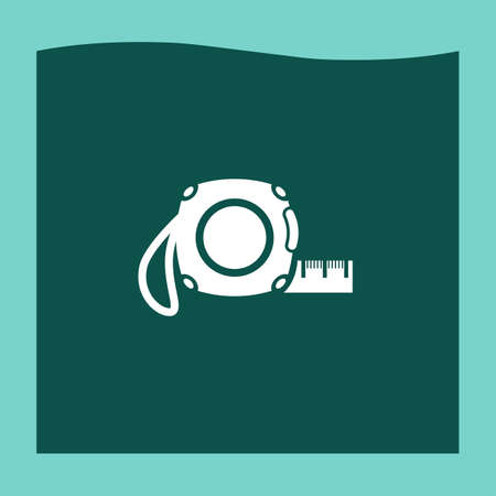 cintas metricas: Cinta de la medida del vector del icono, icono de cinta de la medida eps10, cinta de la medida icono de imagen, medir el icono de cinta plana, medir el icono de la cinta, medir el icono de la web cinta, Vectores