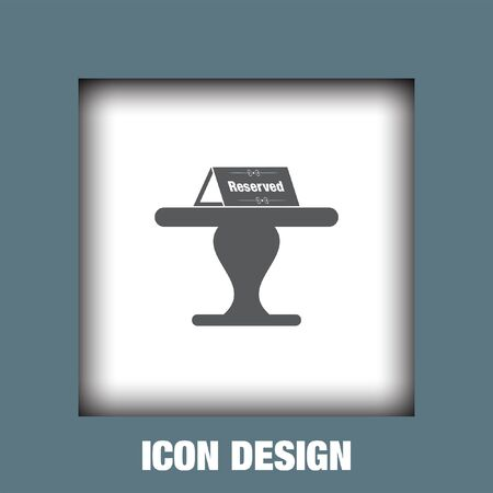 reserved: Reserved table icon vector, Reserved table icon eps10, Reserved table icon picture, Reserved table icon flat, Reserved table icon, Reserved table web icon,
