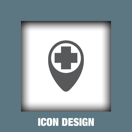 ems: Street Pin First Aid icon vector, Street Pin First Aid icon eps10, Street Pin First Aid icon picture, Street Pin First Aid icon flat, Street Pin First Aid icon, Street Pin First Aid web icon,