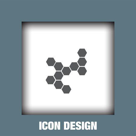 Estructura molecular del vector del icono, icono de la estructura molecular eps10, Estructura molecular icono de la imagen, la estructura molecular icono plana, Molecular icono estructura, estructura molecular icono de la web,