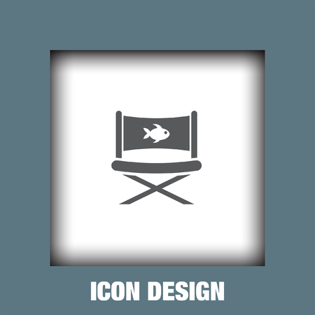 outdoor furniture: Fishing chair icon vector, Fishing chair icon eps10, Fishing chair icon picture, Fishing chair icon flat, Fishing chair icon, Fishing chair web icon, Illustration
