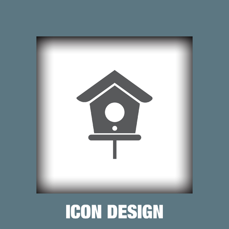 nestling birds: Bird house icon vector, Bird house icon eps10, Bird house icon picture, Bird house icon flat, Bird house icon, Bird house web icon,