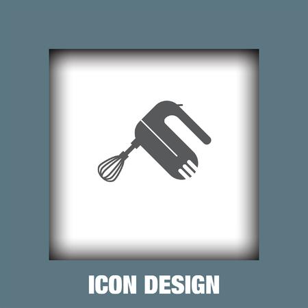 beater: Cocina mezclador batidor de iconos de vectores, cocina mezclador batidor icono eps10, cocina mezclador batidor imagen de icono, icono de la cocina mezclador batidor plano, batidor de cocina mezclador icono, icono de la web de la cocina mezclador batidor,