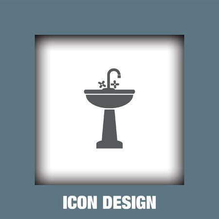Lavabo icône vecteur, Lavabo icône eps10, Lavabo icône image, Lavabo icône plat, lavabo icône, lavabo icône web, Vecteurs