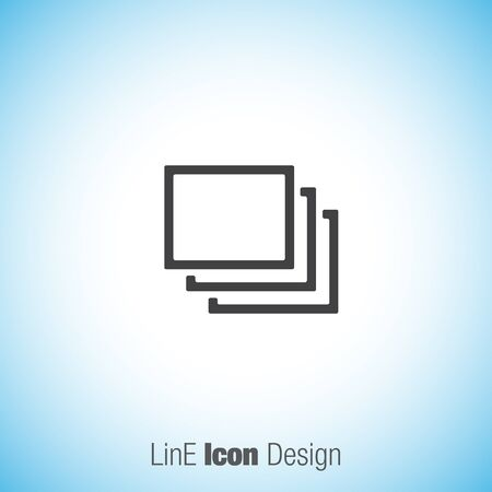 in layers: Layers sign vector icon