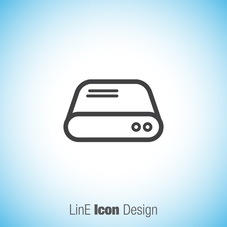 harddrive: Hard disk sign vector icon. HDD sign vector icon. Hard drive storage sign. Illustration