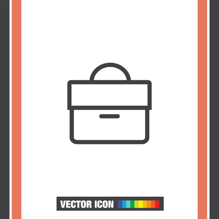 case studies: Briefcase sign line vector icon. Businessman case line icon. Diplomat sign. Hand baggage symbol