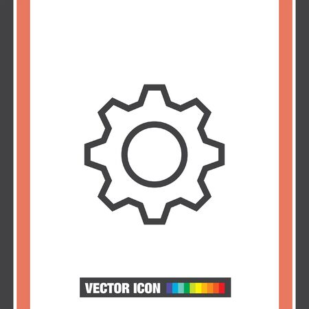 preferences: Settings gear sign line vector icon. Support sign. Preferences symbol icon.
