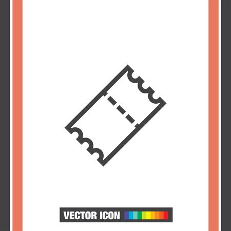coupon sign: Ticket sign line vector icon. Coupon sign. Movie or theater symbol.