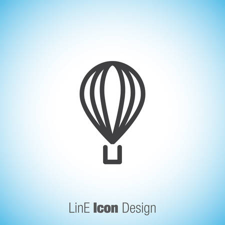 baloon: Air baloon line vector icon. Travel sign line icon.