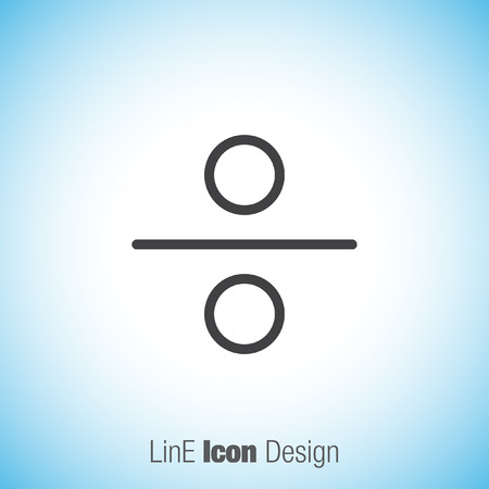 Division sign line vector icon. mathematical sign for divide icon. Illustration