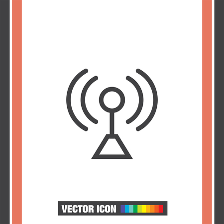 signal strenght: Signal strengt sign line vector icon. Wi Fi signal vector icon. Wireless connection symbol.