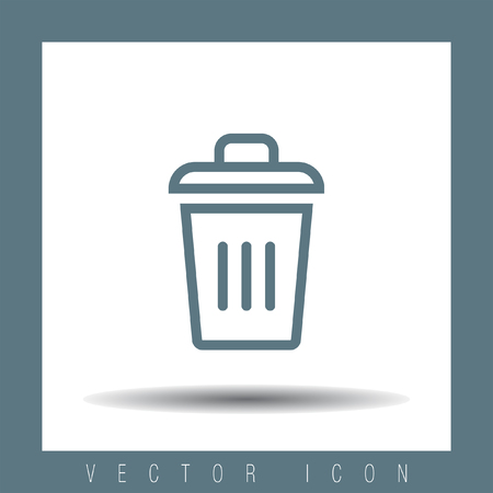 dumpster: Recycle bin vector icon. Garbage sign line vector icon. Trash can vector icon.