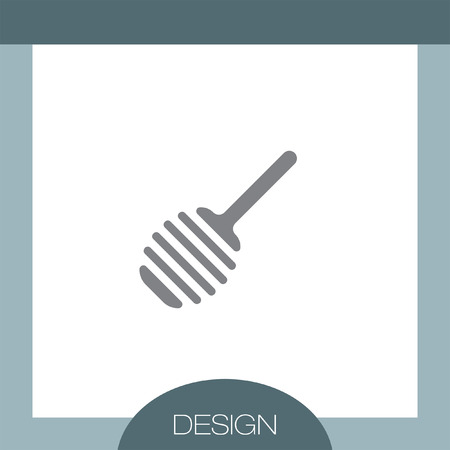 stick insect: Honey Spoon vector icon Illustration